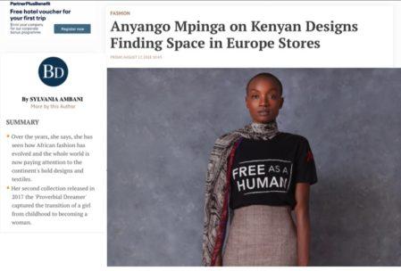 Anyango Mpinga on BUSINESS DAILY AFRICA