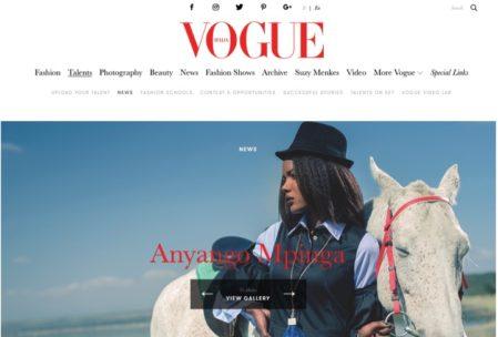 Anyango Mpinga on Vogue Italia PRESS