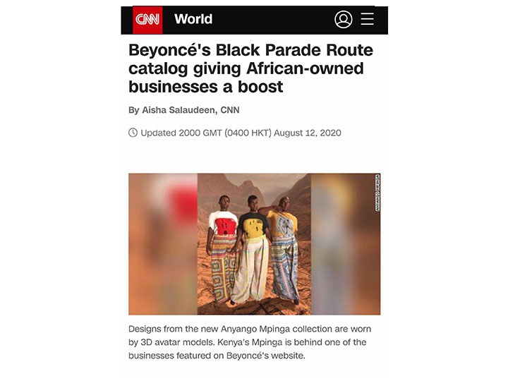 CNN WORLD BEYONCÉ'S BLACK PARADE ROUTE CATALOG GIVING AFRICAN-OWNED BUSINESSES A BOOST